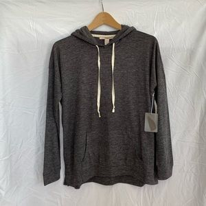 Forever 21 Dark Gray Relaxed Pullover Hoodie